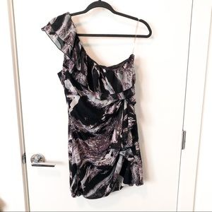 🎁4/20$🎁  abstract floral one shoulder dress